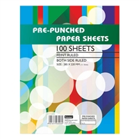 Pre-Punched Paper Sheets
