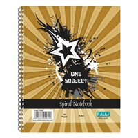 One Subject Spiral Notebooks