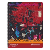 6 Subject Spiral Notebooks - 240 Pages - B5